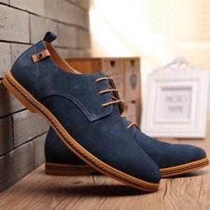 Men jean material shoe