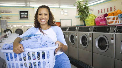 Happy DryCleaning Woman