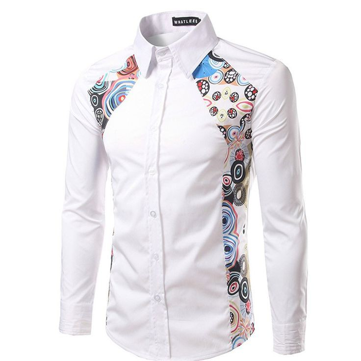 White Shirt with side matted design
