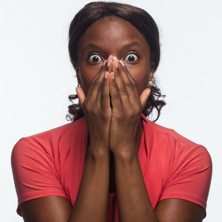 surprised african girl