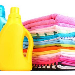 laundry-soap with prepared clothes