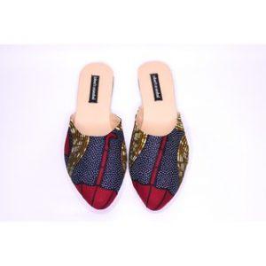 Female flat ankara shoes