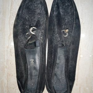 Black Suede with ring (before wash)