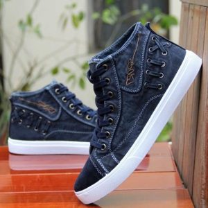 Men's high ankled Jeans fabric Shoes