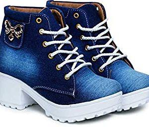 Women's chunky jean fabric shoes(washing)