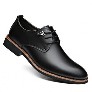 black lace up corporate men's shoe