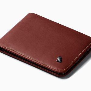 men's luxury brown smooth luxe leather designer wallet