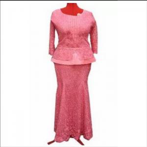 Igbo Skirt and Blouse (pink)