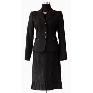 Pleated Skirt Suit (black)