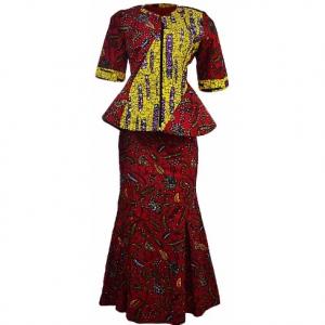 Skirt and Blouse (ankara)