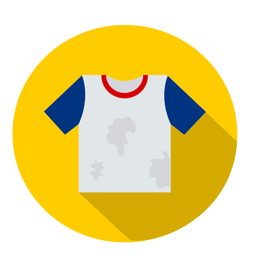 dirty-shirt for color run style patterns